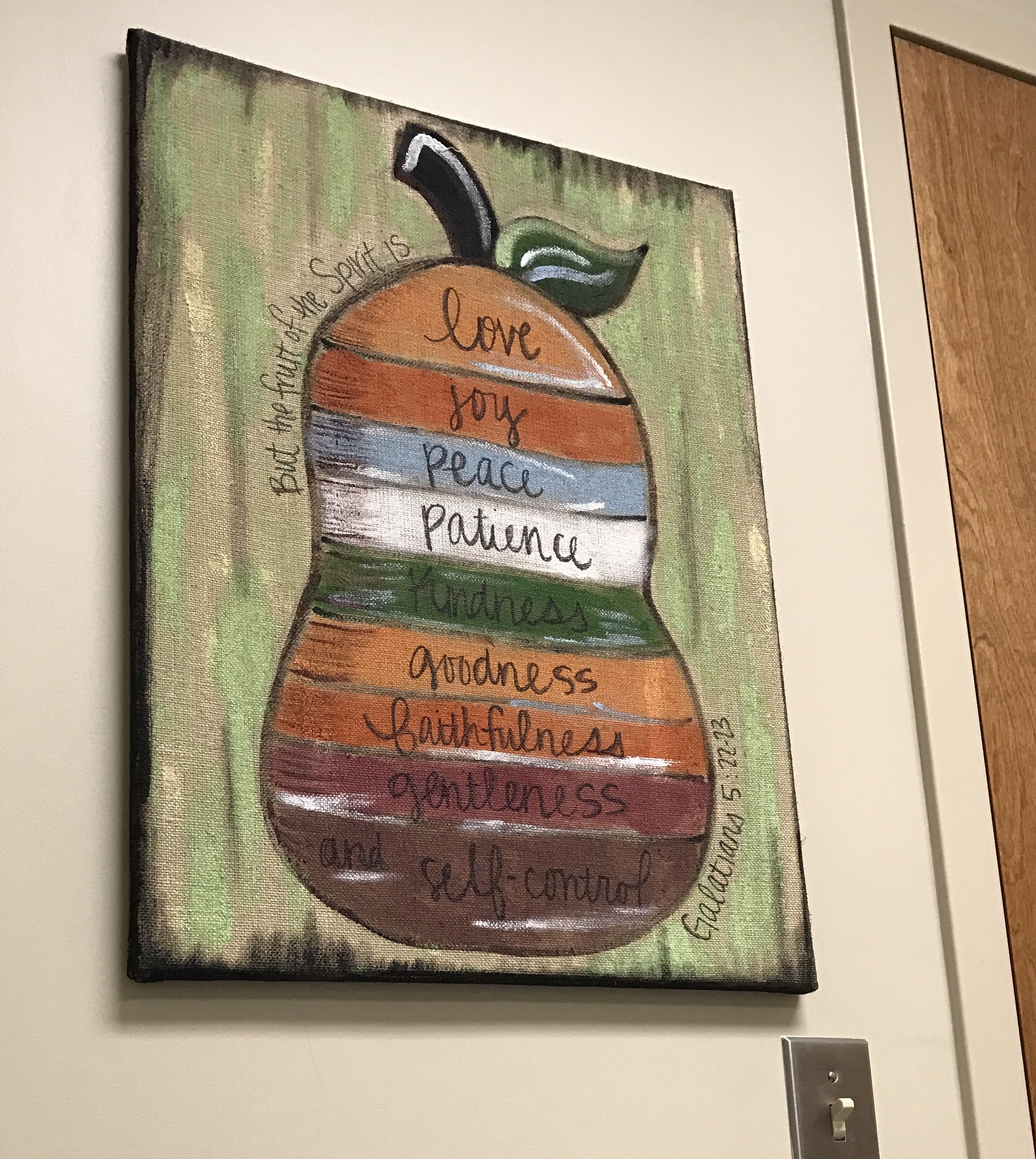 Fruits of the spirit canvas fruit of the spirit crafty