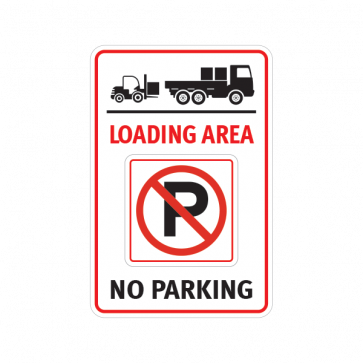 Loading Area No Parking Sign 11270 Parking Signs Signs Prints