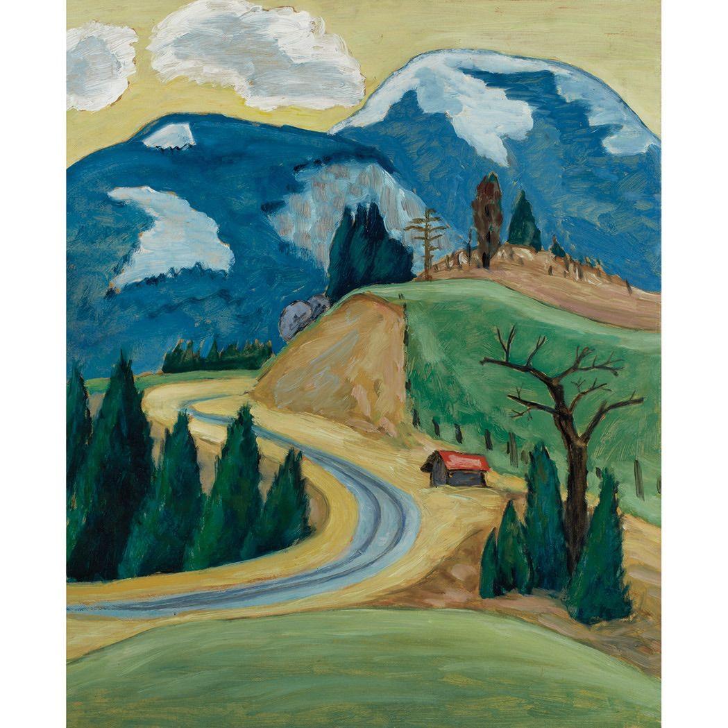 ~Gabriele Munter~ Winding Road (1913)