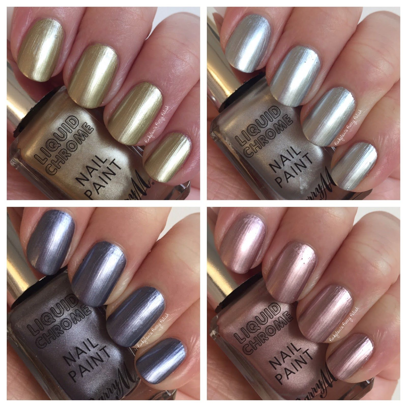 Pinkglow\'s Pretty Polish - Barry M Liquid Chrome Swatches and Review ...