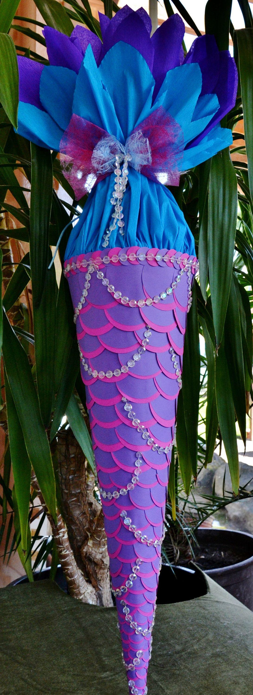 105 cm schultüte meerjungfrau fisch für mädchen  diy