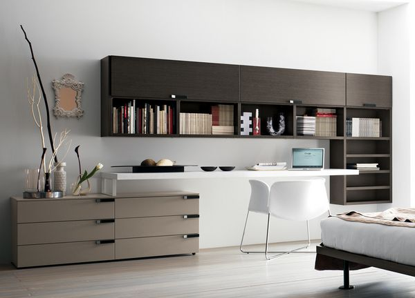 Modern Modular Systems Wood Home Office Furniture Contemporary Col