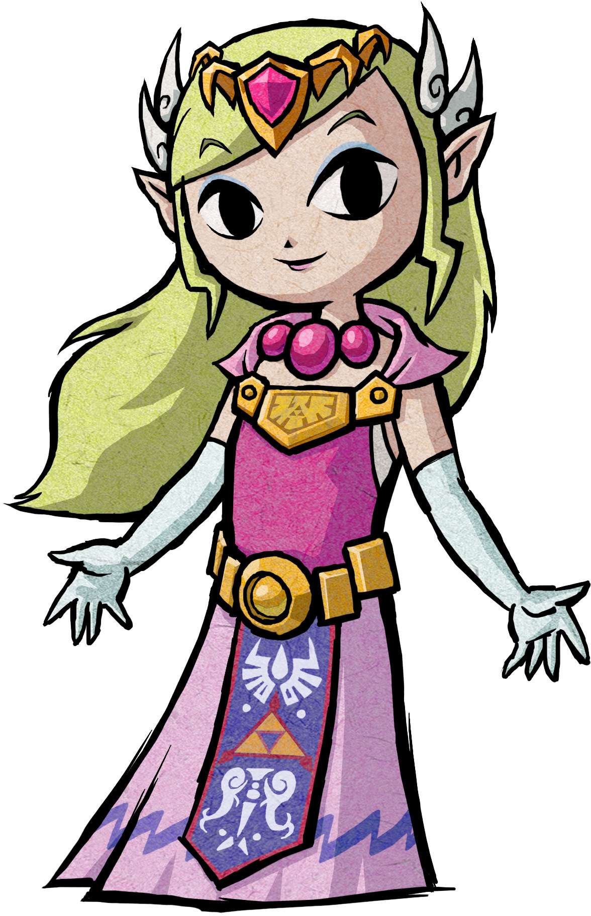 Princess Zelda design from The Wind Waker | Art - The Legend of ...