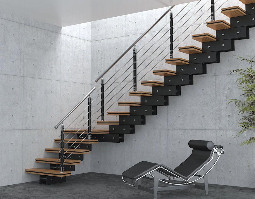 Escalier Modulaire Bocani Noir Et Bambou Home Decor Stairs Home