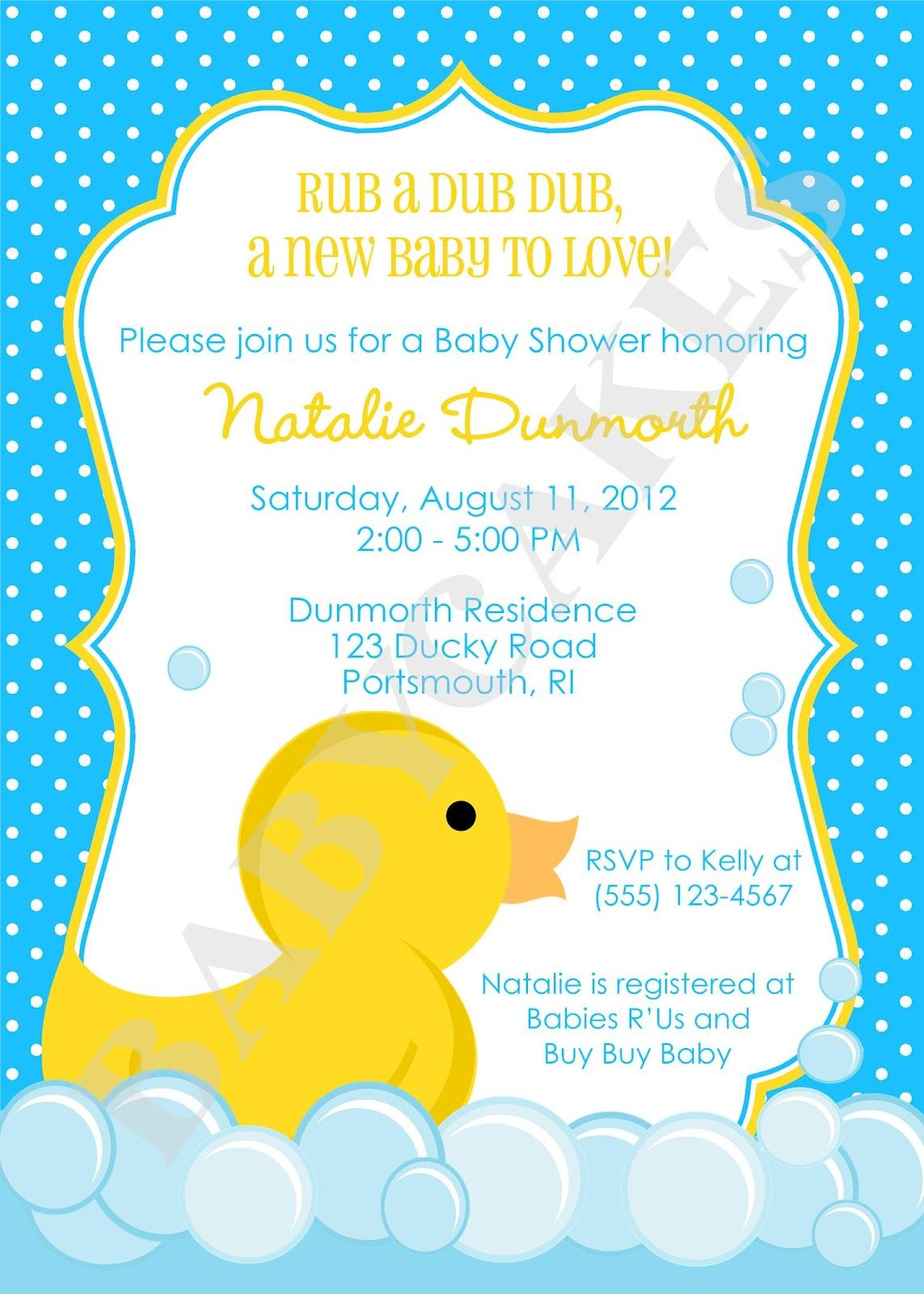 cute duck invitation Party Pinterest