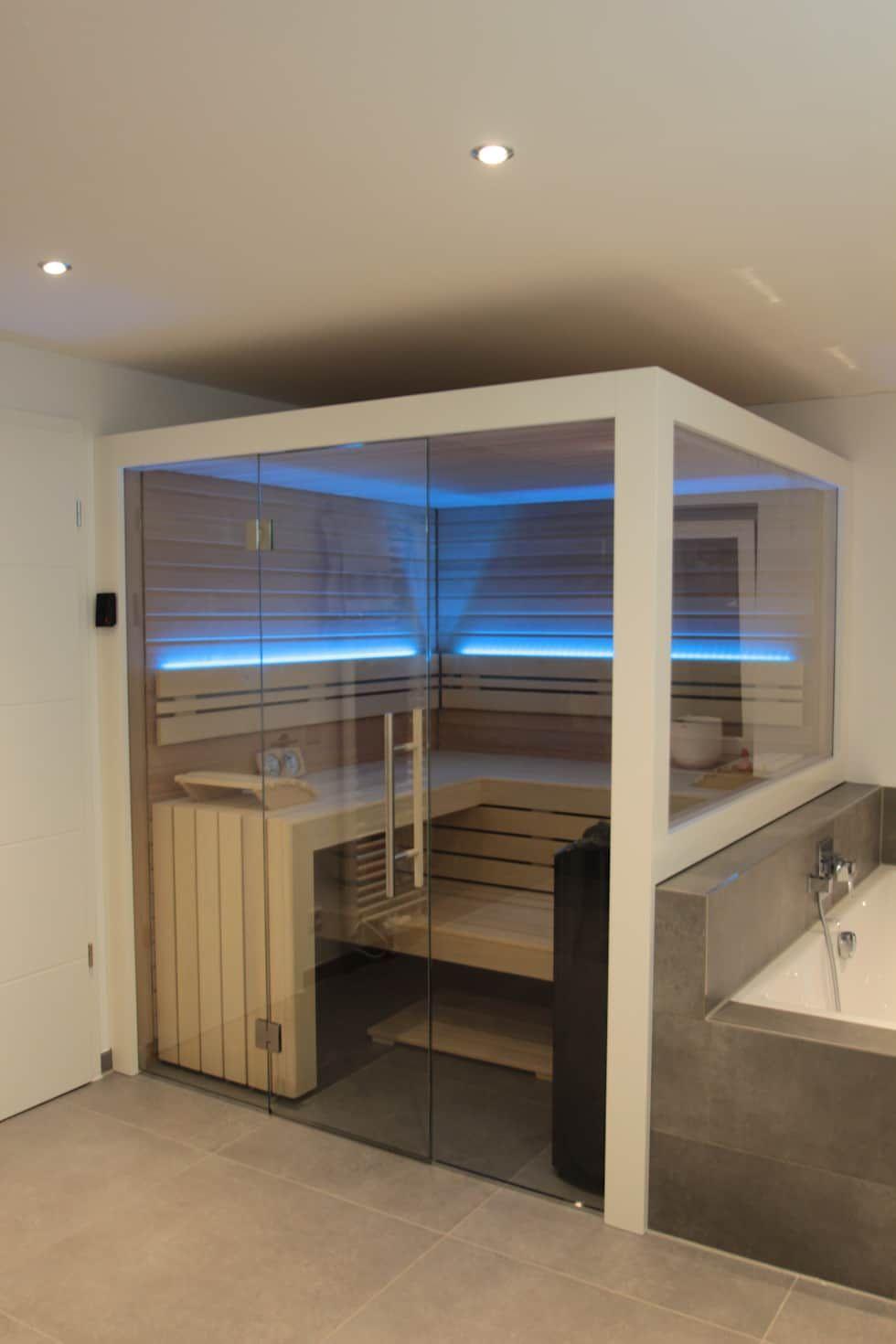 Sauna Für Badezimmer : sauna neben der badewanne badezimmer von wellness more ~ Watch28wear.com Haus und Dekorationen