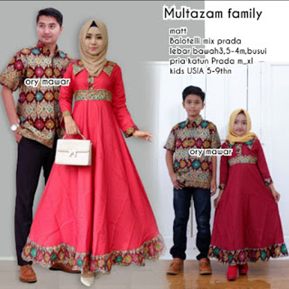 model baju batik couple multazam kombinasi jual  6f58e68301