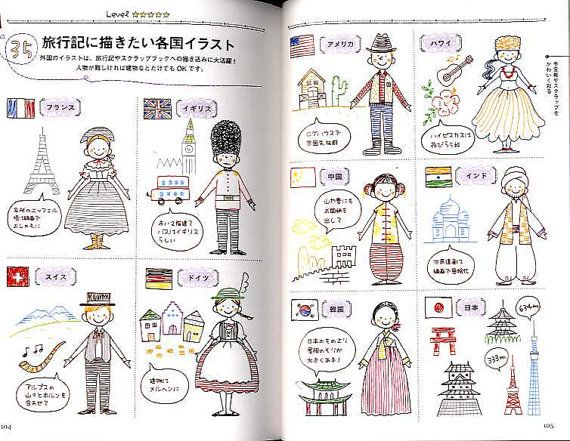 Petit Cute Ballpoint Pen Illustration Book Japanese Craft Book B