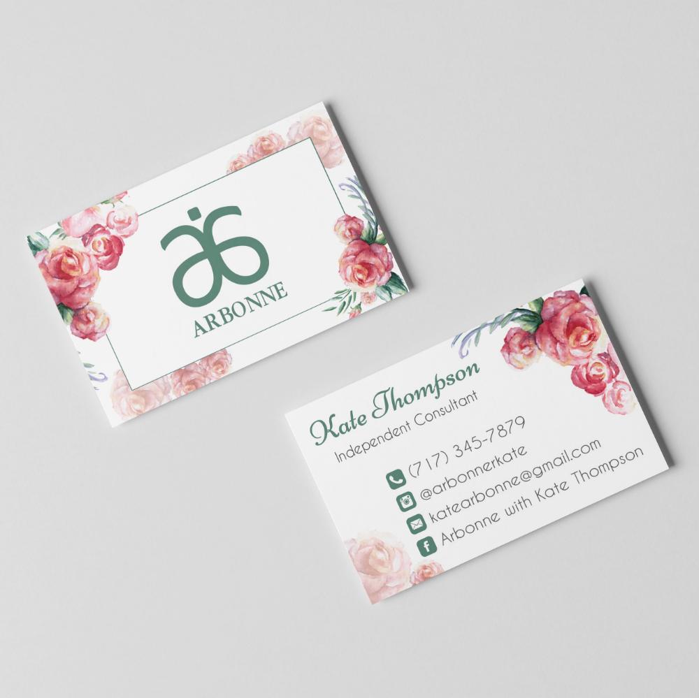 Arbonne Business Card Arbonne Flower Business Card Arbonne Consultant Ab01 On Storenvy Arbonne Business Cards Arbonne Business Arbonne
