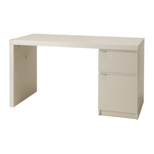 Ikea Jonas Desk In White 199 00 In 2019 Ikea Ikea Desk