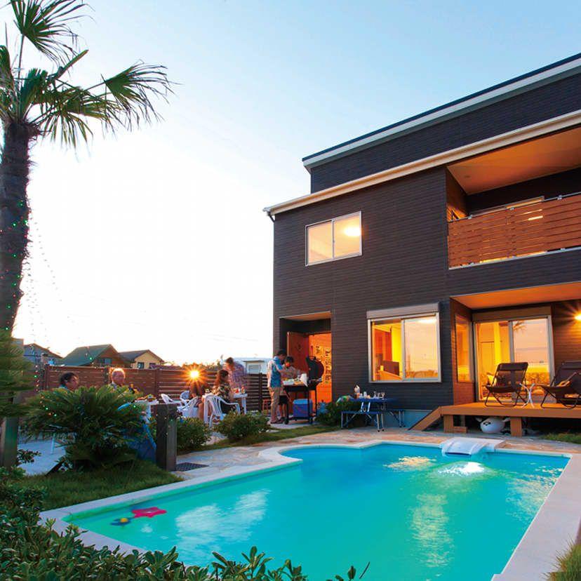 夢が現実に 2000万円で実現したプール付きのローコスト住宅