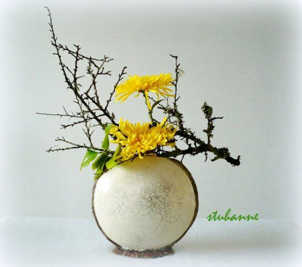 ikebana d 39 automne ikebana pinterest automne arrangements floraux et fleur. Black Bedroom Furniture Sets. Home Design Ideas