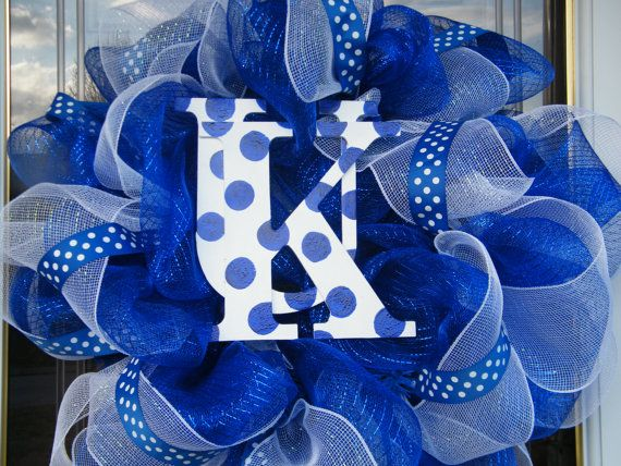 University of Kentucky Wreath by CharmedSouth on Etsy, $65.00