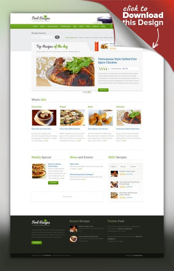 Food recipes wordpress theme wordpress site design and web buy food recipes wordpress theme by inspirythemes on themeforest food recipes is a fully responsive feature rich and beautifully designed wordpress forumfinder Image collections