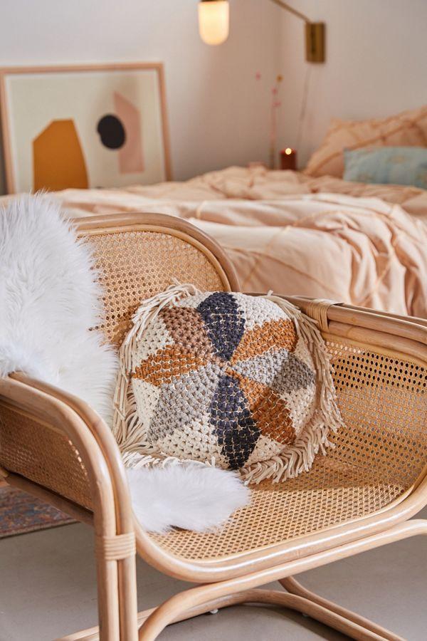 Josie Printed Crochet Jersey Throw Pillow