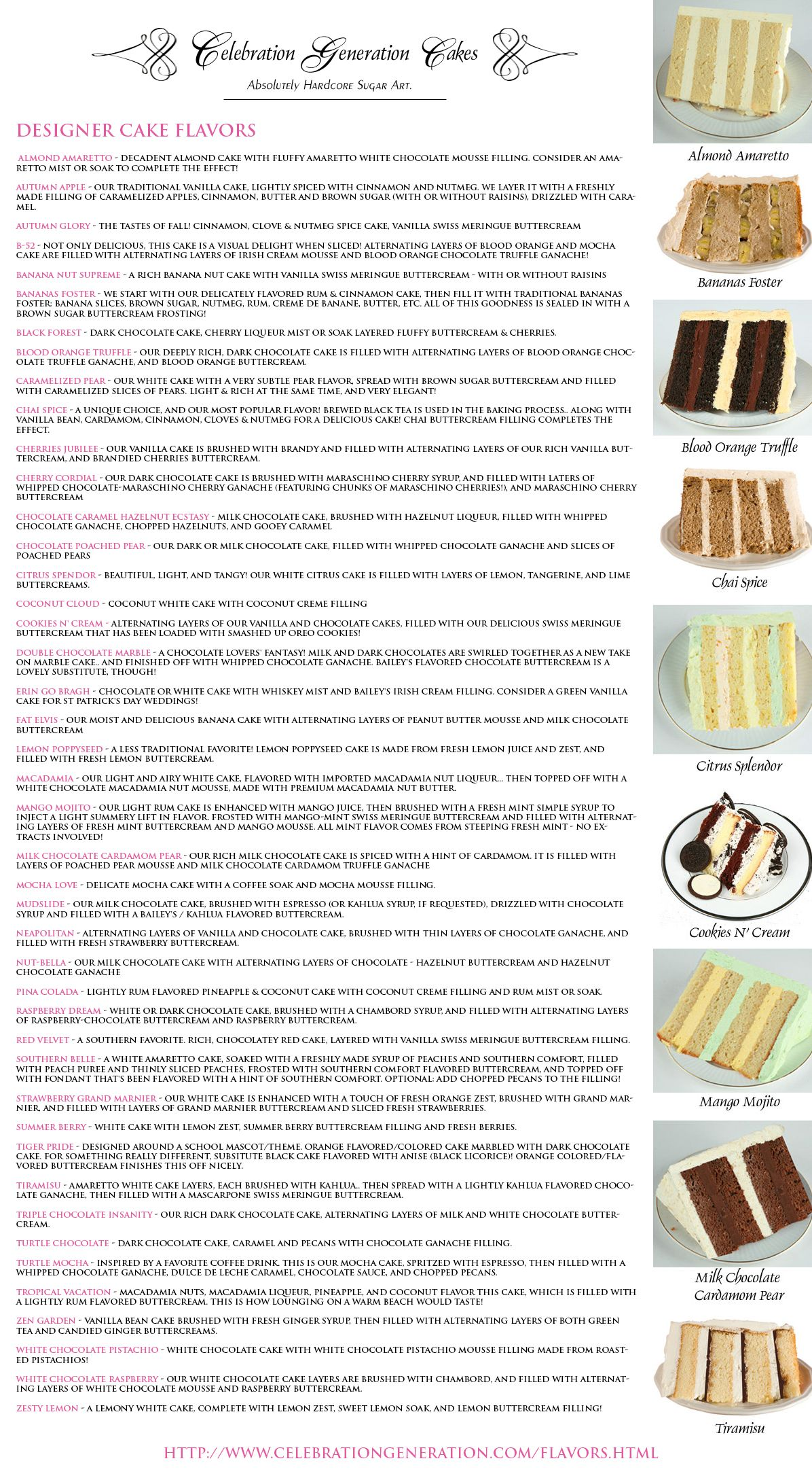 Cake Flavours and awesome Ideas for Cakes cakes Pinterest Cake