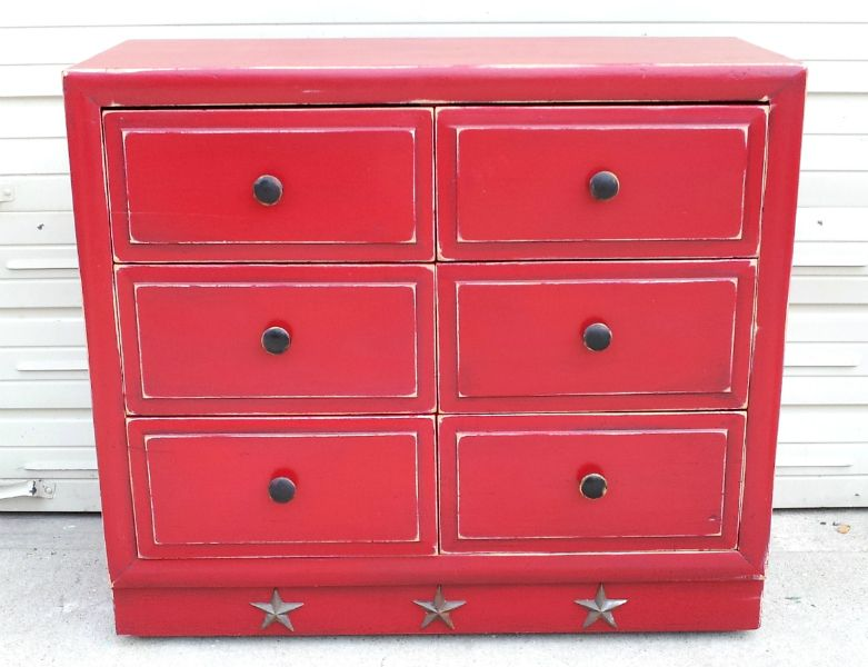 Awesome Dresser In Distressed Barn Red, With Black Glaze. From Facelift Furnitureu0027s  Red Refinished Furniture