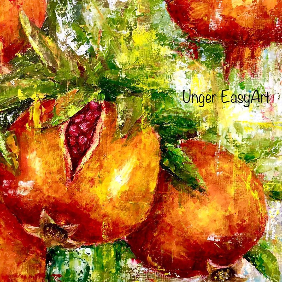"Unger EasyArt on Instagram: ""Unger EasyArt | Pomegranates | Oil on canvas #canadianartist #art #impressionism #artwork #artworks #artistsoninstagram #artshow #instaart…"""