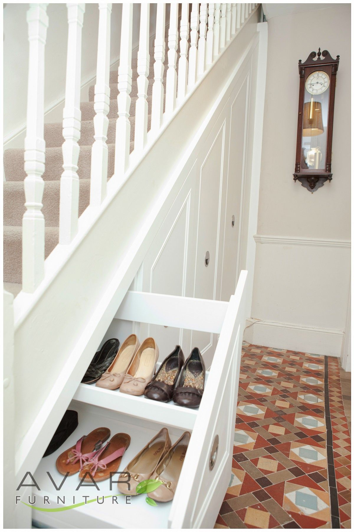 05 pull out drawers under the stairs from avar furniture for Under stairs drawers plans
