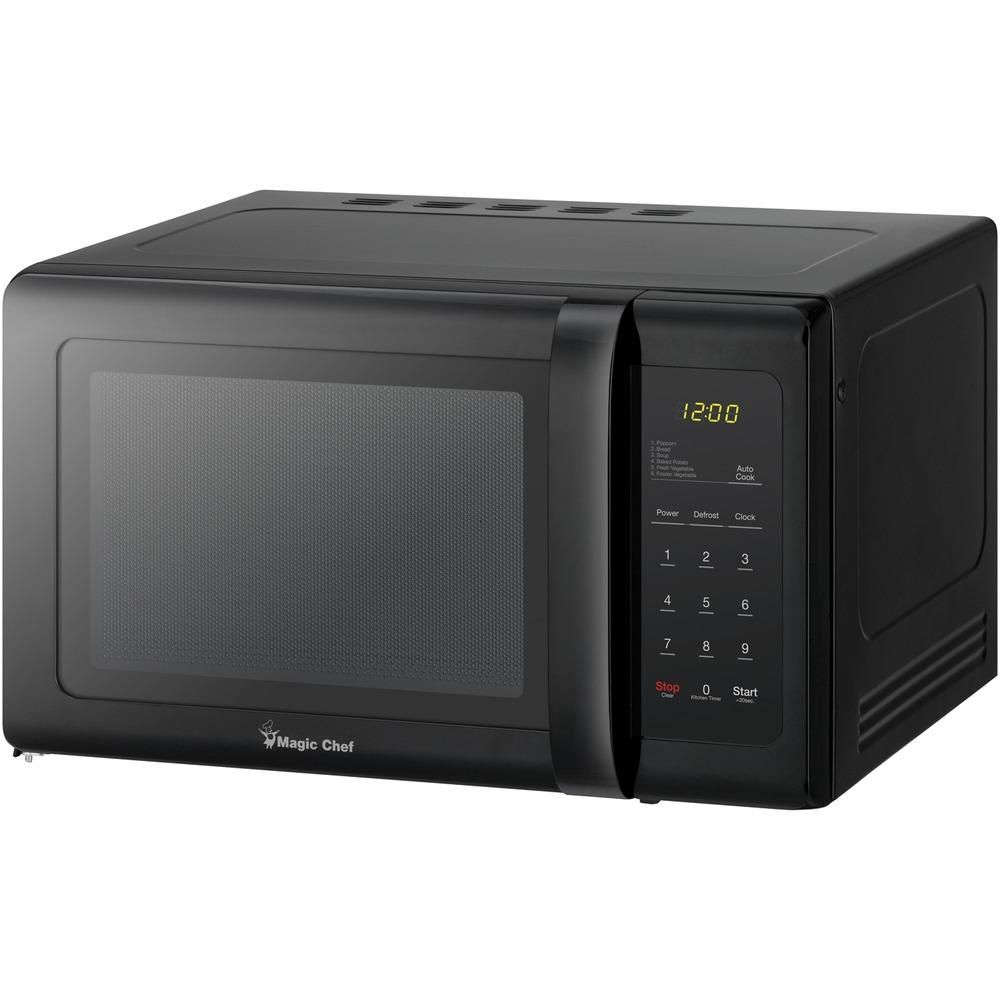 Magic Chef 9 Cubic Ft Countertop Microwave Black Black