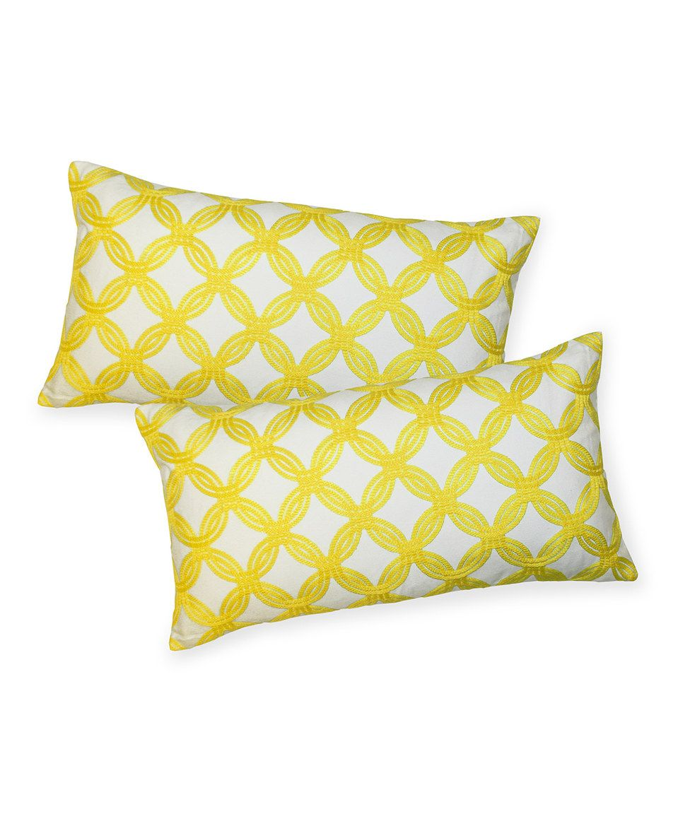 This Yellow Greta Throw Pillow Set Of Two By Lush Décor Is Perfect