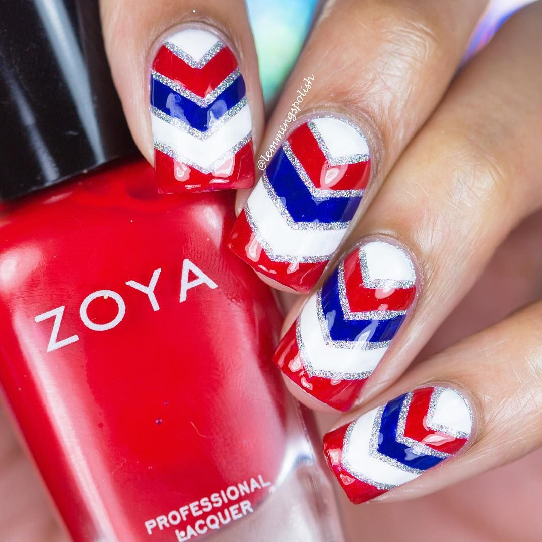 patrioticnails.quenalbertini: July 4th Nails by lemmingspolish | Instagram