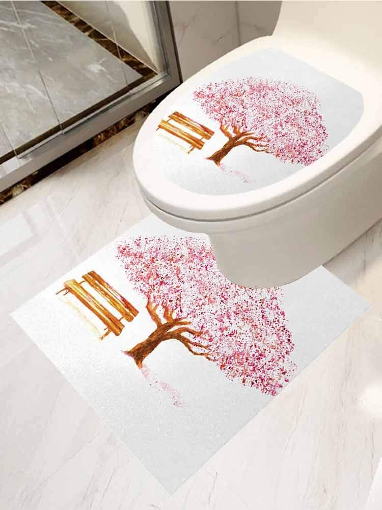 Auraisehome Nature Cover Decals Stickers Toilet Paste Set 2