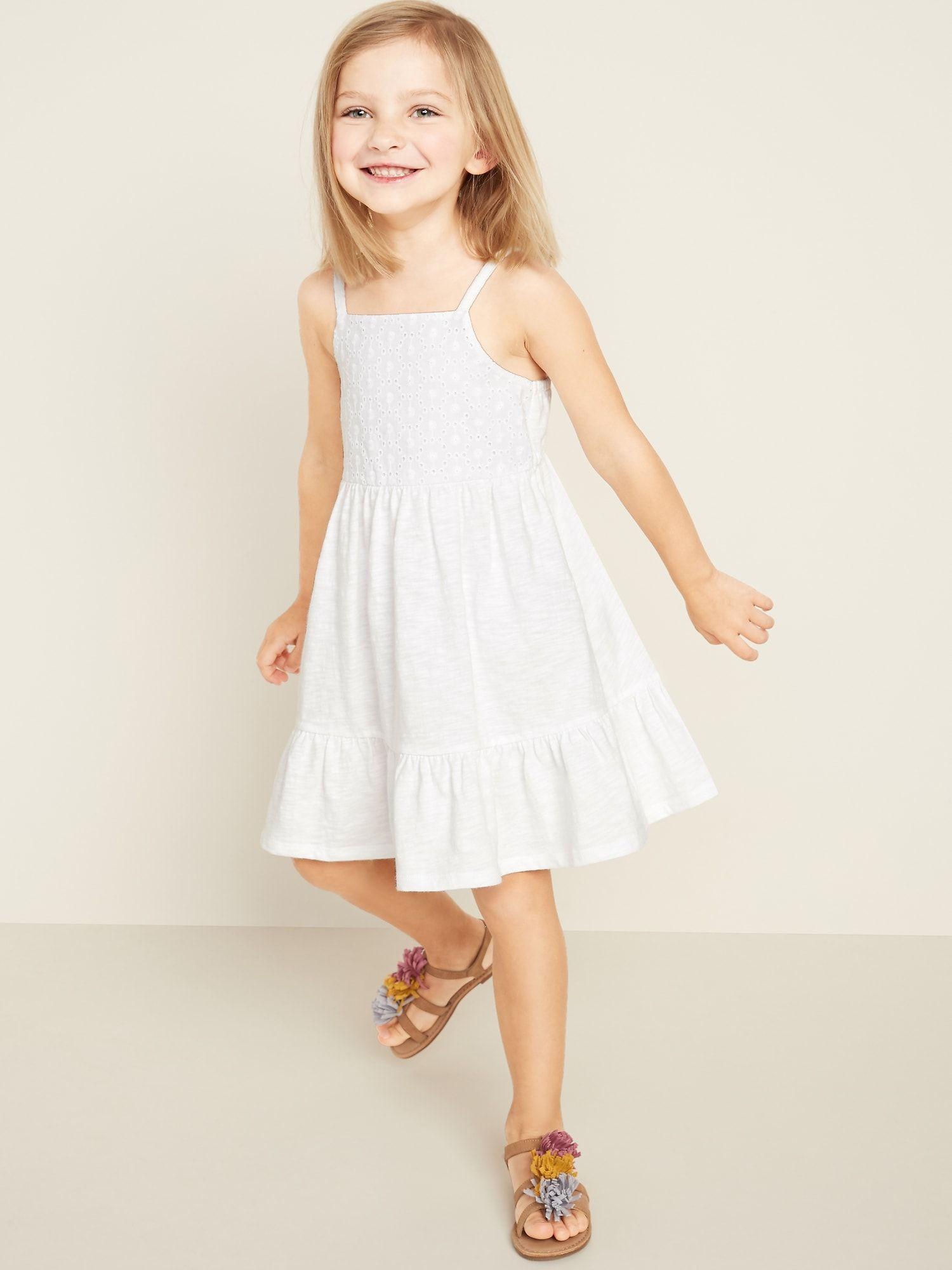 Fit & Flare Eyelet Yoke Cami Dress for Toddler Girls in 20 ...