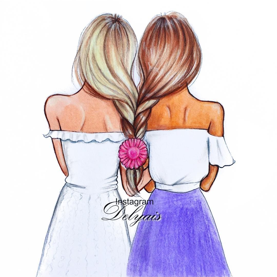Á´€Ê€á´› ɪʟʟᴜsᴛʀᴀᴛɪᴏɴs Á´˜á´Ê€á´›Ê€á´€Éªá´›s On Instagram Blonde Or Brunette Fashionsketch Vogue Streetstyle Streetlook Streetfashion Loo Cute Best Friend Drawings Best Friend Drawings Drawings Of Friends