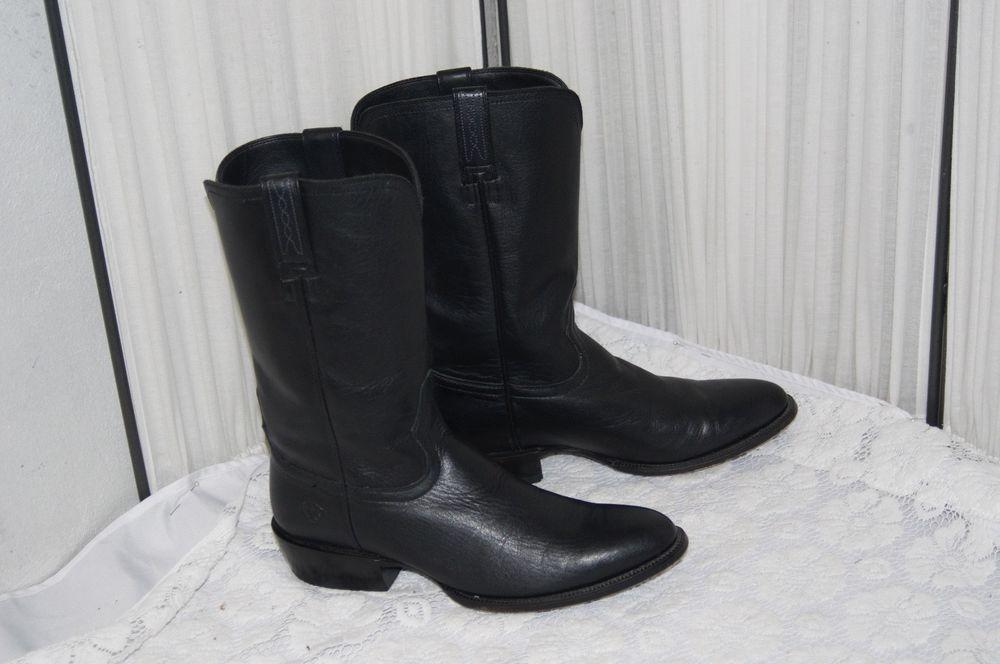 Ariat Heritage R Toe Roper 13 Dress Cowboy Boot In Black Mens