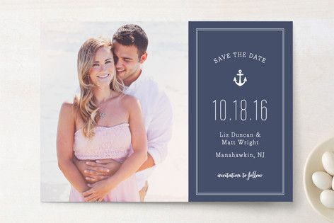 Down by the Sea Save The Date Cards by Sandra Picco Design at minted.com