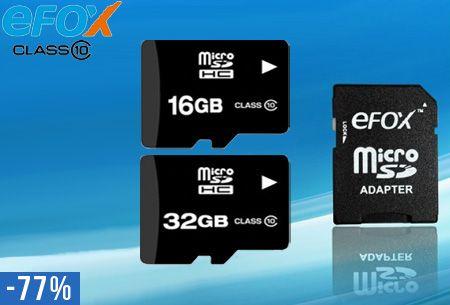Micro SD-kaart 16GB of 32GB + adapter nu al vanaf €6,95   Ideaal voor je smartphone, camera, tablet of laptop #micro #sd #kaart