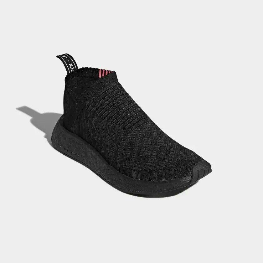 Feet Adidas Nmd Cs2 Primeknit Sneakers In Core Black Carbon Shock Pink Slip On Ultra Lightweight So Zapatos Hombre Tenis Para Hombre Zapatillas Deportivas