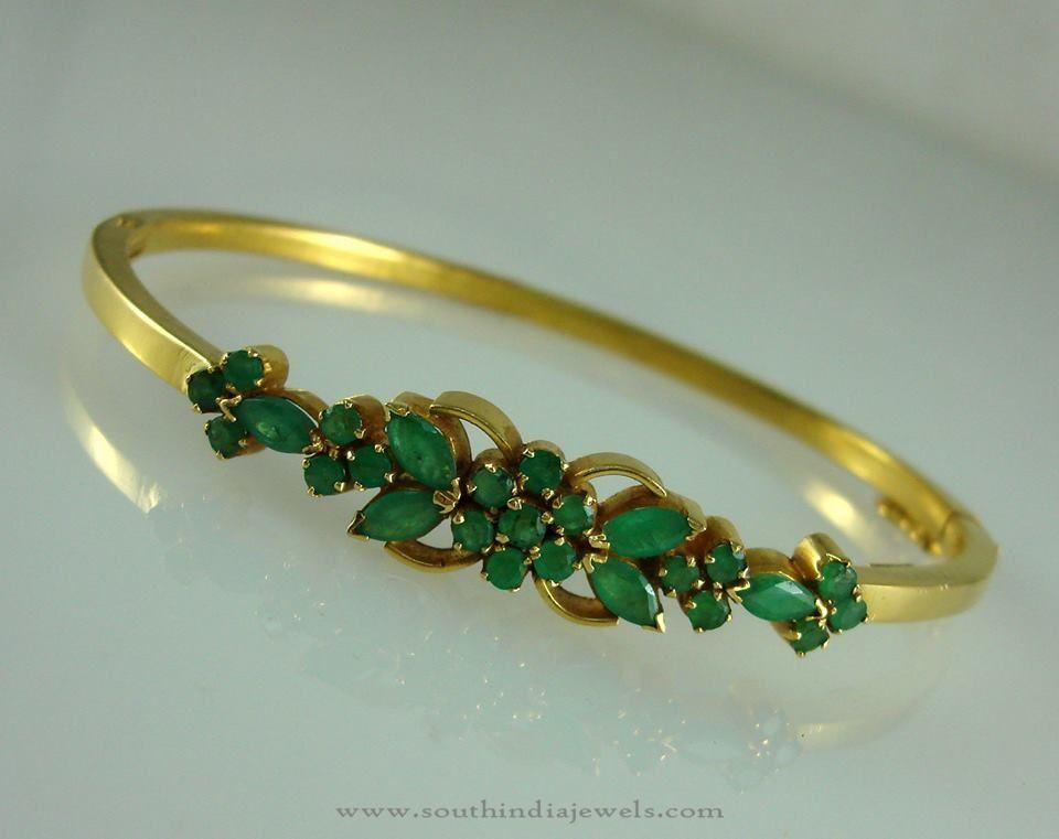 Gold Emerald Bracelets Designs 22k With Emeralds Bracelet Models