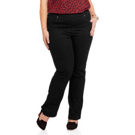 1b20bf201d763 Just My Size Women s Plus-Size 4 Pocket Pull On Bootcut Stretch Jeans