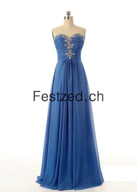 A Linie Herzausschnitt Lang Konigsblau Chiffon Grosse Grossen Abendkleider Abendkleid Chiffon Abendkleider Kleider