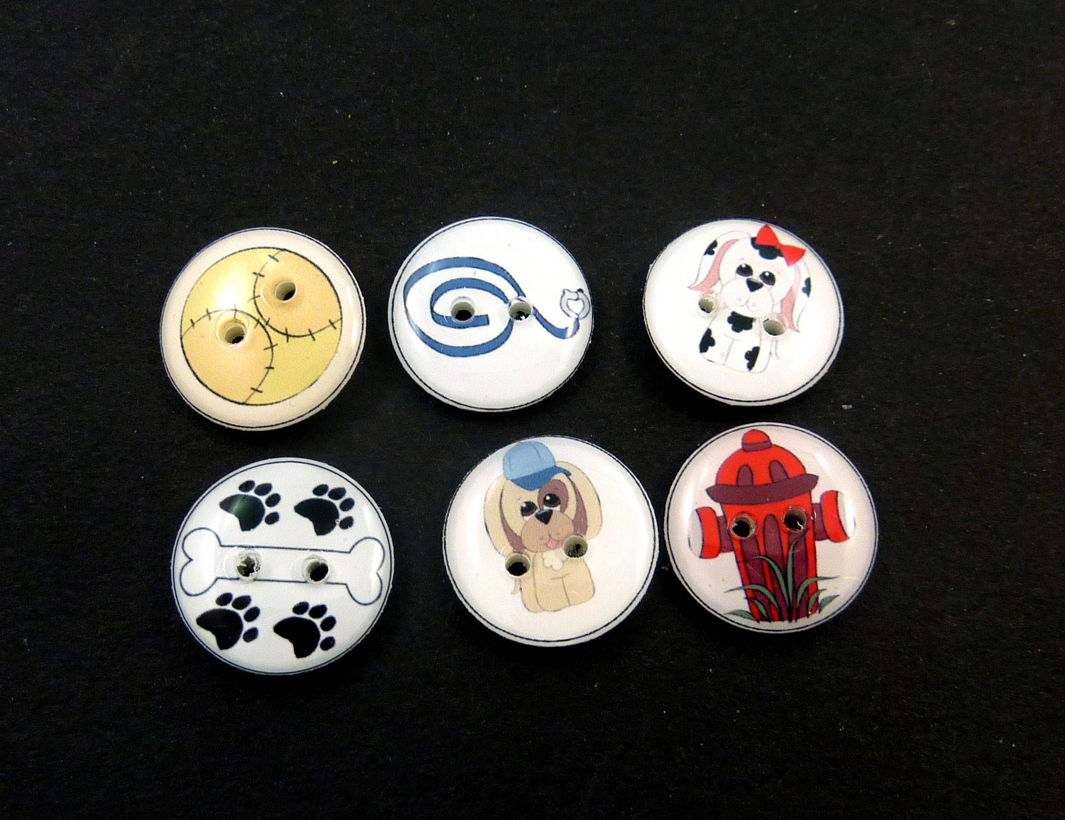 Wild West Cowboy Gift 6 Cowboy Buttons Handmade Western Buttons for Sewing knitting and crochet Choose Your Size.