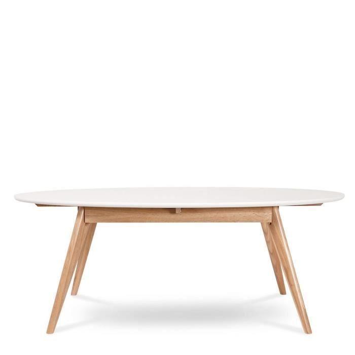 Table basse ovale design scandinave Skoll Coule - Salon  Salle à