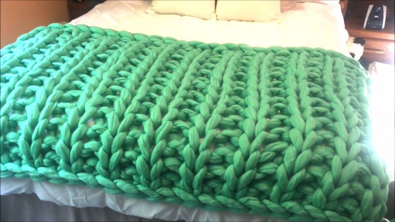How to Hand Knit a Giant Merino Blanket, Ribbing pattern | Blanket ...