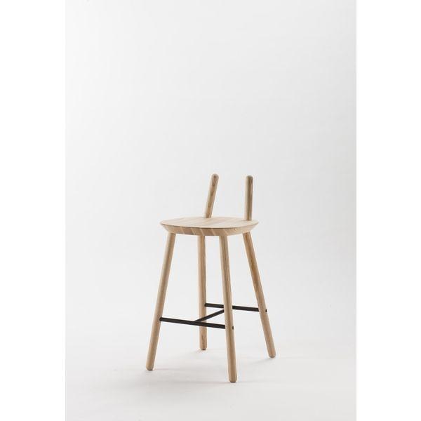 Barhocker Naive aus Eschen-Holz - minimalistisches Design für - küchentisch mit barhockern