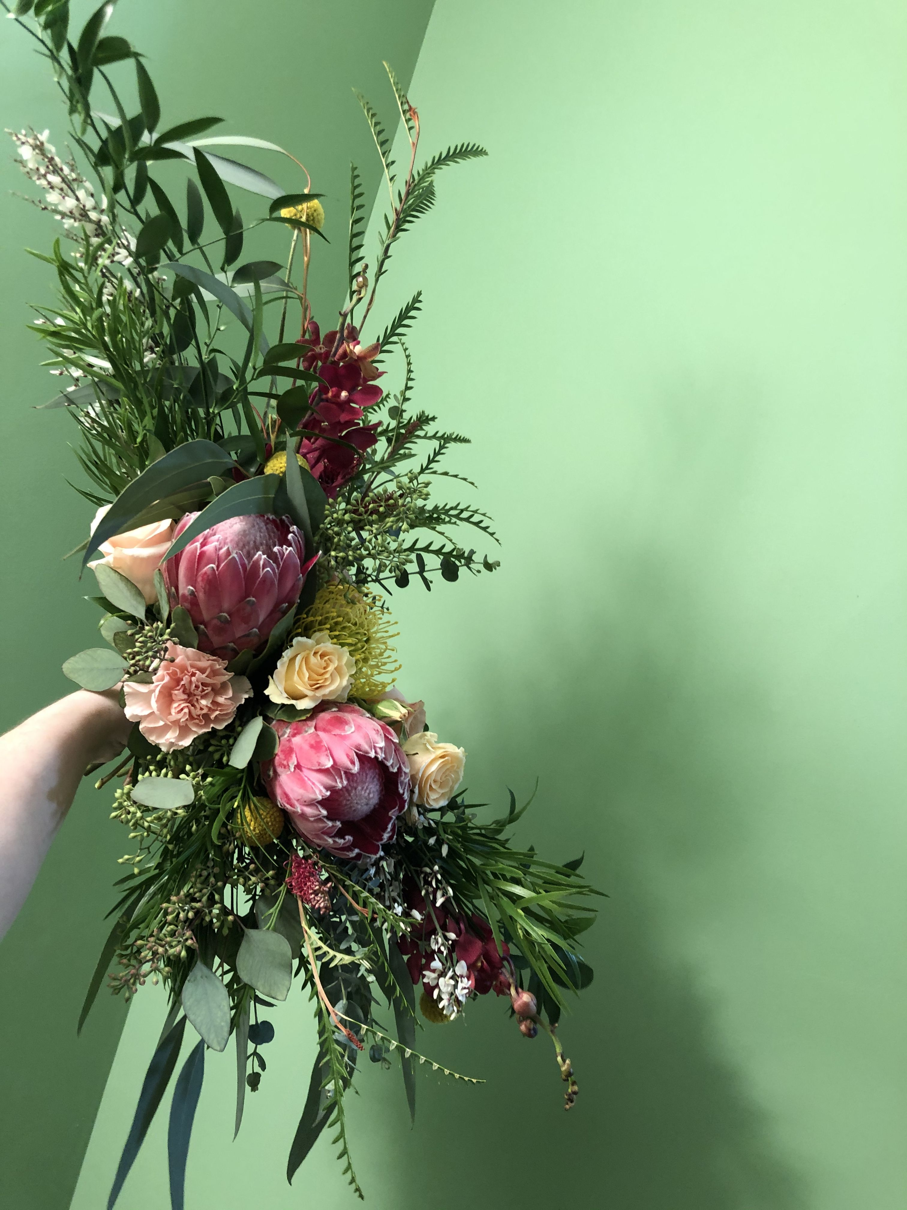 Asymmetrical bouquet flower arrangements flowers