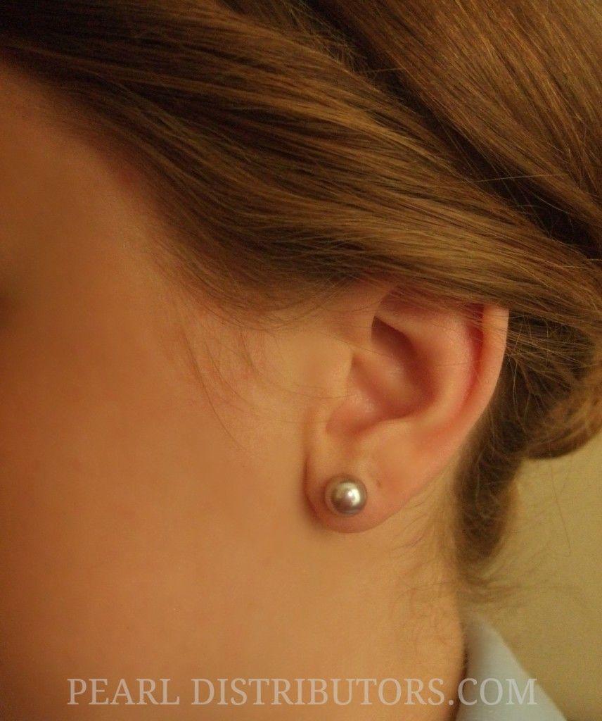 6mm Pearl Stud Earrings Topearrings