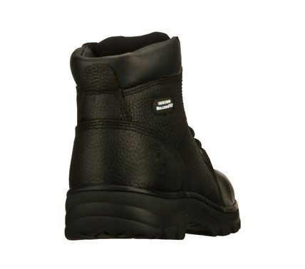 82ba21b9f8959 Skechers Work Men's Workshire Relaxed Fit Memory Foam Steel Toe Work Boots  (Black) - 12.0 M