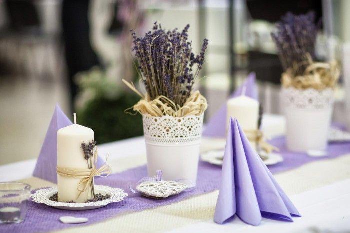 Tischdeko Lavendel Tischdekoration Zur Hochzeit