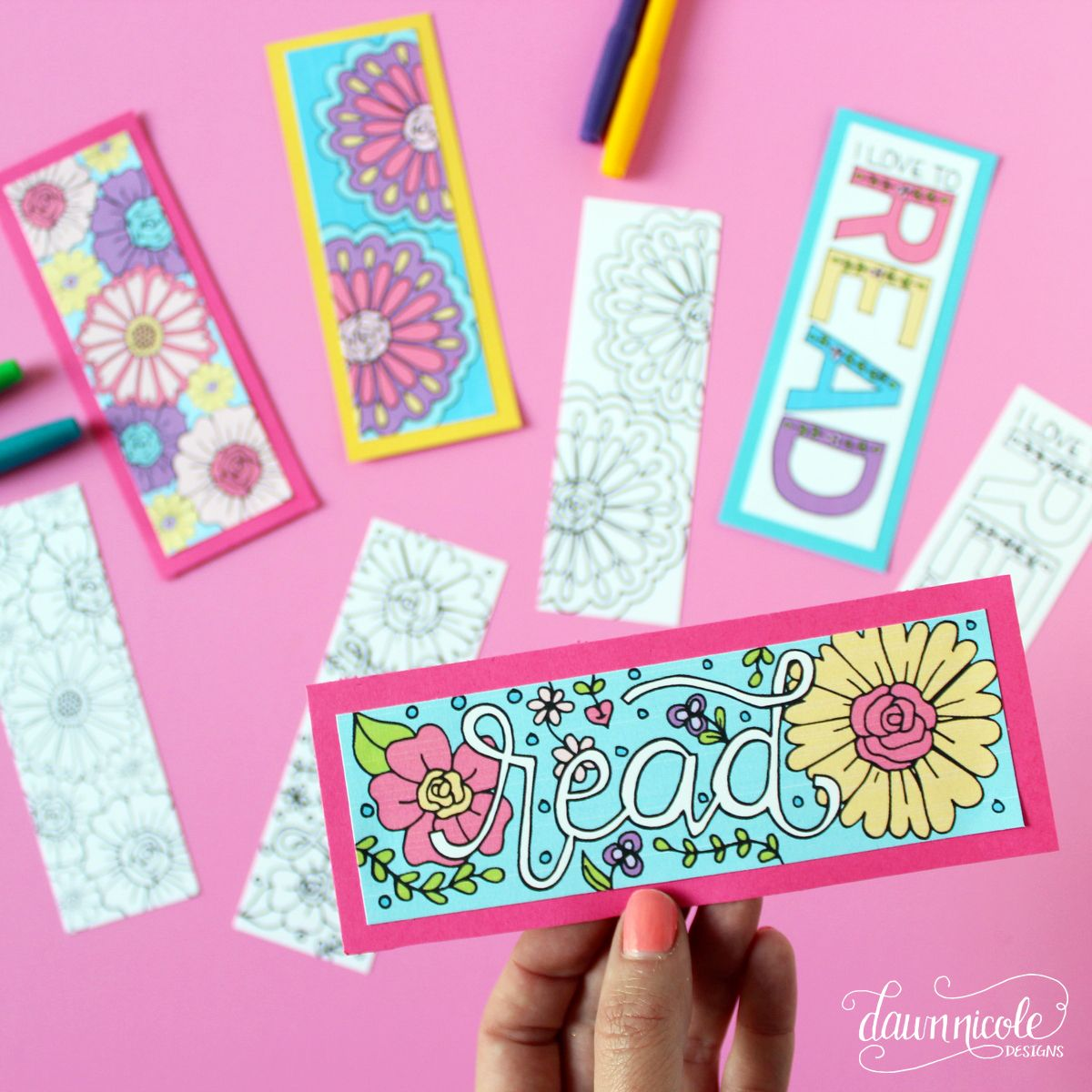 Summer Coloring Page Bookmarks | For the LIbrary | Pinterest ...