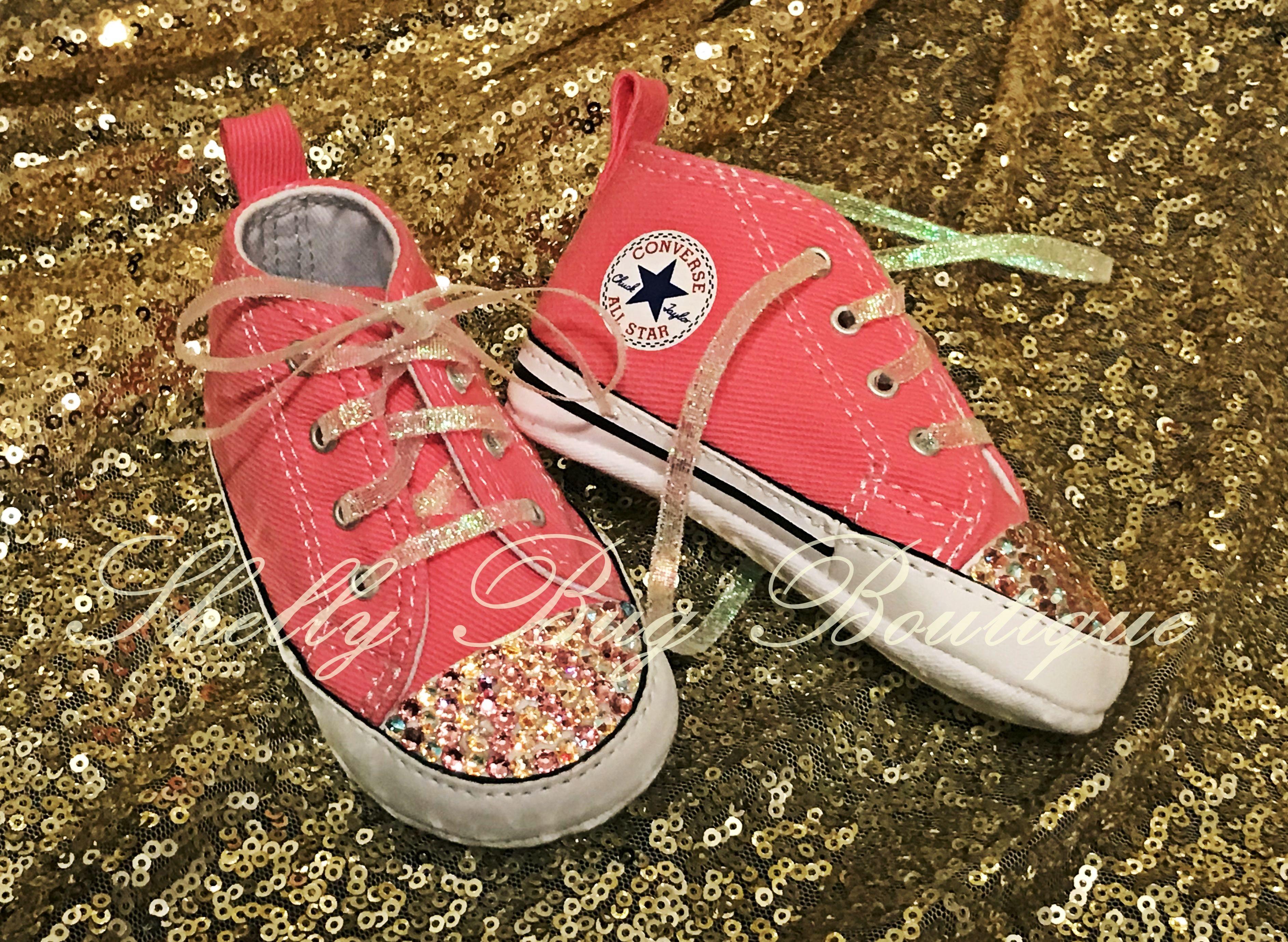 962b56f2e441 Made to Match or You Design - Custom Swarovski Infant Converse Shoes ...