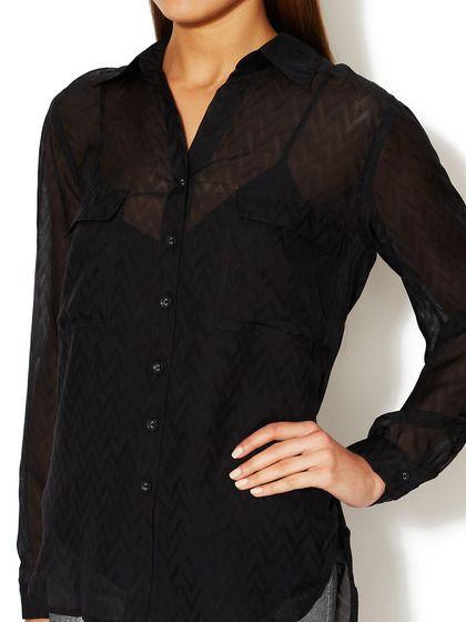 MODERN IT GIRL - Jacquard Semi-Sheer Silk Blouse (L'Agence)