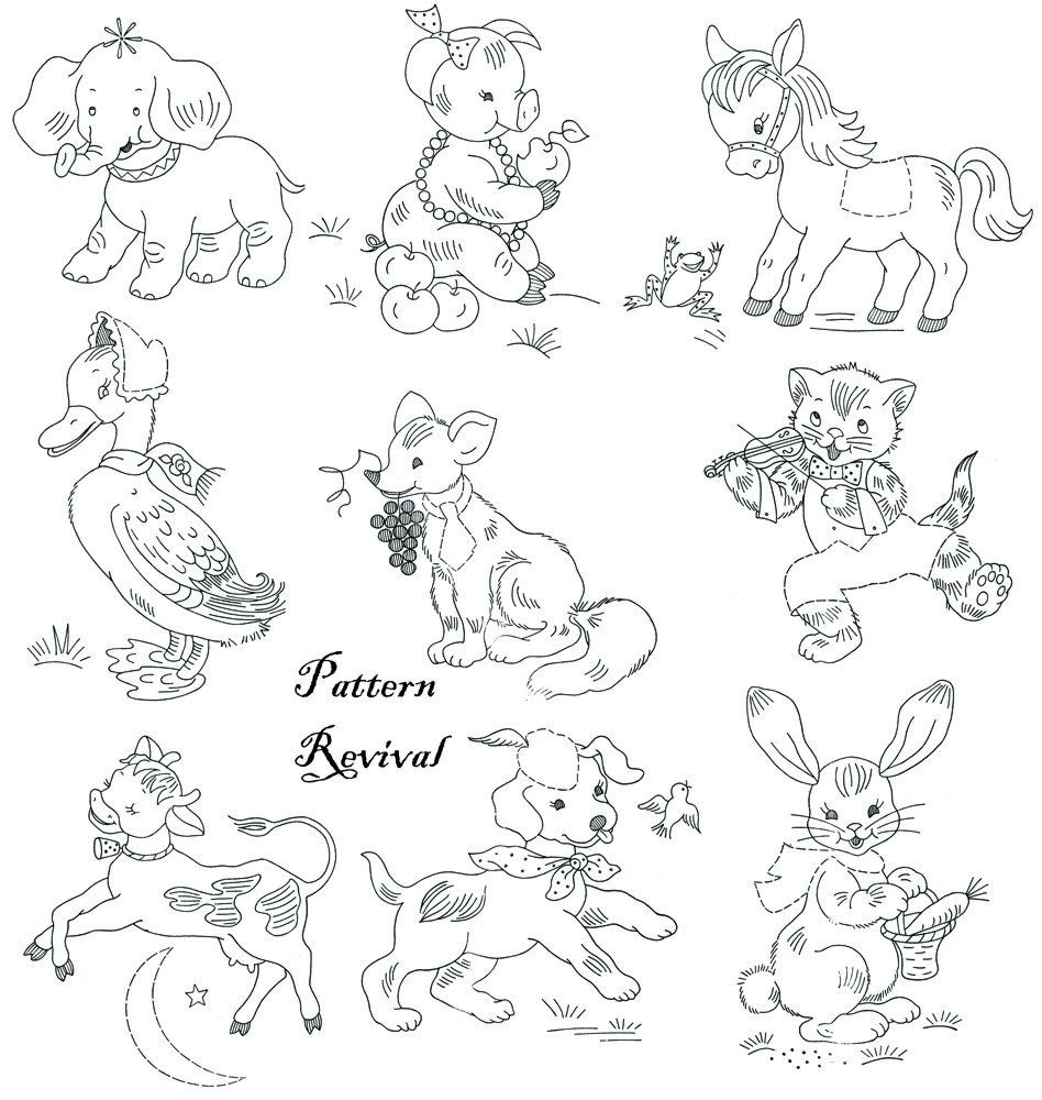 Embroidery & Applique Quilt 7047 Nursery Animal by