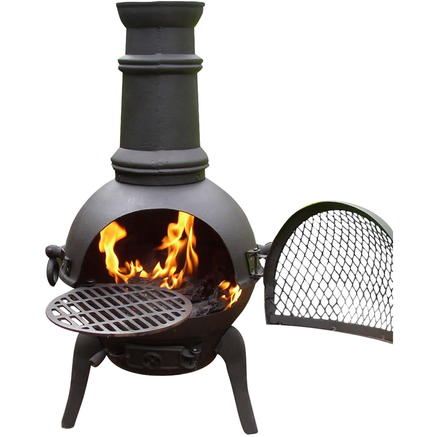 Captivating Cast Iron Chiminea Small Bronze In Unique Design For Patio Heater Ideas