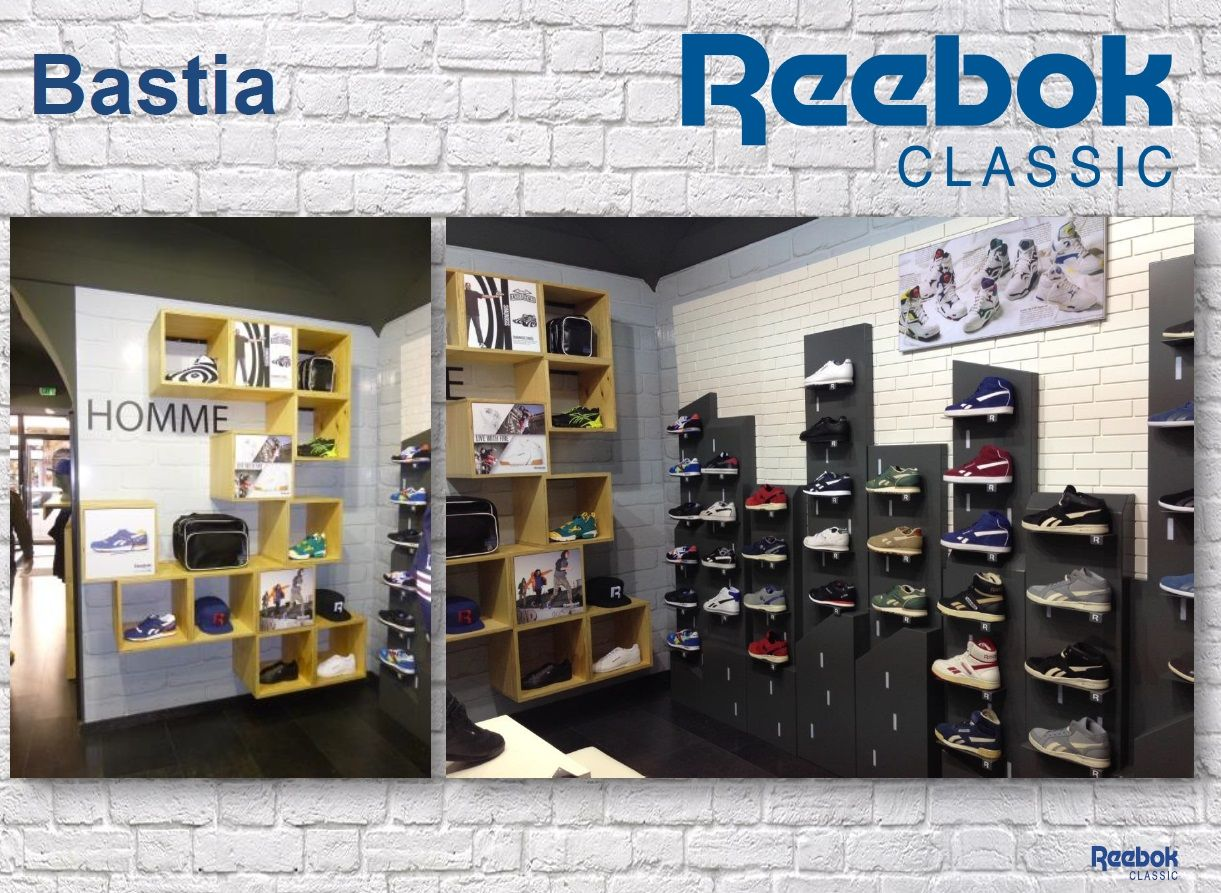 latest fashion limited sale latest discount Reebok Classic store in Bastia, Italy. Store was space ...
